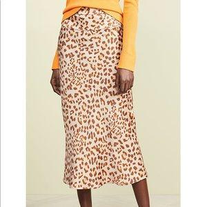 Free People printed midi skirt